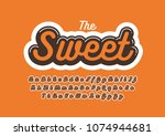 vector of stylized modern font... | Shutterstock .eps vector #1074944681