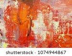 abstract oil paint texture on... | Shutterstock . vector #1074944867