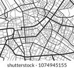 abstract city navigation map... | Shutterstock .eps vector #1074945155