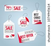 set of realistic white price... | Shutterstock .eps vector #1074945614