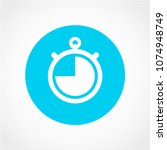 clock time icon isolated on... | Shutterstock .eps vector #1074948749