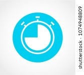 clock time icon isolated on... | Shutterstock .eps vector #1074948809