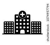 medical hospital flat icon on... | Shutterstock .eps vector #1074957794