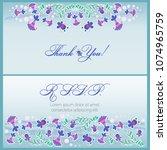 thank you  rsvp. set. wedding... | Shutterstock .eps vector #1074965759