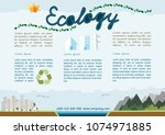 colorful ecology template... | Shutterstock .eps vector #1074971885