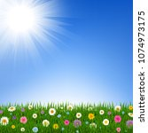 hello spring background with... | Shutterstock .eps vector #1074973175