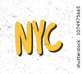 nyc. sticker for social media... | Shutterstock .eps vector #1074975665