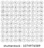 set of 100 high quality... | Shutterstock .eps vector #1074976589
