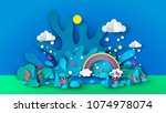 illustration of a wonderful... | Shutterstock .eps vector #1074978074