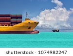 logistic and transportation of... | Shutterstock . vector #1074982247