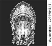 dog for t shirt design cool... | Shutterstock .eps vector #1074984845