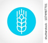 wheat icon isolated on white... | Shutterstock .eps vector #1074987701