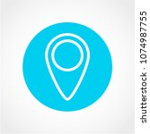 map pin icon isolated on white... | Shutterstock .eps vector #1074987755