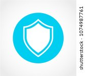shield icon isolated on white... | Shutterstock .eps vector #1074987761