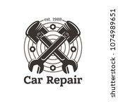 car repair  sign in vintage...   Shutterstock .eps vector #1074989651