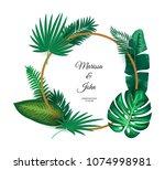 illustration of trendy summer... | Shutterstock . vector #1074998981