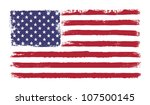stars and stripes. grunge... | Shutterstock . vector #107500145