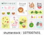 summer set of sale and gift... | Shutterstock .eps vector #1075007651