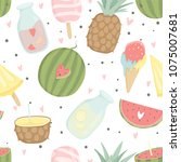 wrapping paper  fabric ... | Shutterstock .eps vector #1075007681