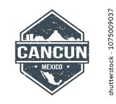 Cancun Mexico Travel Stamp....