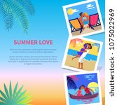 summer love photographies with... | Shutterstock .eps vector #1075022969