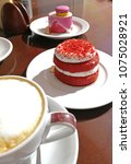 coffee and cake   Shutterstock . vector #1075028921