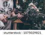 flower composition from... | Shutterstock . vector #1075029821