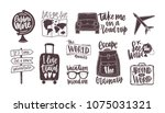 bundle of handwritten... | Shutterstock .eps vector #1075031321