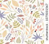 motley seamless pattern with...   Shutterstock .eps vector #1075031567