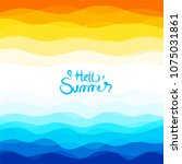 summer background with hot and...   Shutterstock .eps vector #1075031861