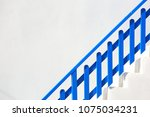 traditional blue and white... | Shutterstock . vector #1075034231