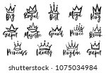 crown logo graffiti icon. queen ... | Shutterstock .eps vector #1075034984