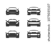 car icons set. flat vector... | Shutterstock .eps vector #1075035107