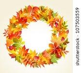 autumn design. wreath of... | Shutterstock .eps vector #107503559