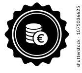 vintage emblem medal with euro... | Shutterstock .eps vector #1075036625