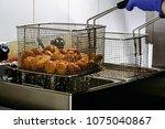 the cook preparing fresh...   Shutterstock . vector #1075040867
