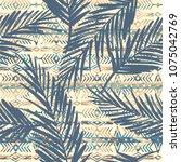 tribal ethnic seamless pattern... | Shutterstock .eps vector #1075042769