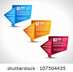 option tag with origami paper... | Shutterstock .eps vector #107504435