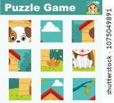 puzzle for children featuring a ... | Shutterstock .eps vector #1075049891