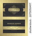 luxury business card and... | Shutterstock .eps vector #1075050497