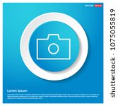 camera icon abstract blue web... | Shutterstock .eps vector #1075055819