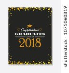 graduation party vector... | Shutterstock .eps vector #1075060319