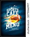 sports cafe menu card design... | Shutterstock .eps vector #1075066997
