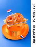 celebration of the king's day... | Shutterstock . vector #1075067639