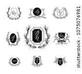 design element of wedding... | Shutterstock .eps vector #1075076981