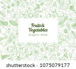 frame border background pattern ... | Shutterstock .eps vector #1075079177