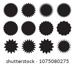 set of starburst  sunburst... | Shutterstock .eps vector #1075080275
