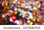 bokeh lights for party  holiday ... | Shutterstock . vector #1075082945