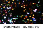 bokeh lights for party  holiday ... | Shutterstock . vector #1075083149