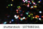 bokeh lights for party  holiday ... | Shutterstock . vector #1075083161